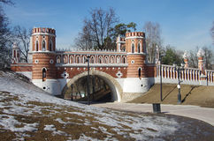 Tsaritsyno Park and Estate in Moscow Stock Image