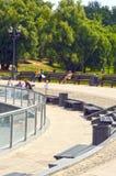 Tsaritsyno Park Fountains Summer day Royalty Free Stock Image