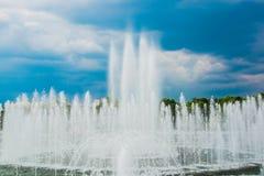 Tsaritsyno park, lato, dzień Wielka fontanna moscow Rosji Zdjęcie Stock