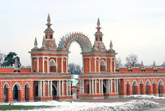 Tsaritsyno park in Moscow Royalty Free Stock Image
