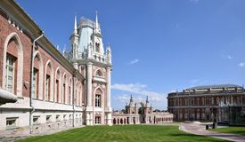Tsaritsyno Park Moscow. Exterior of Tsaritsyno Park Palace in Moscow, Russia royalty free stock photography