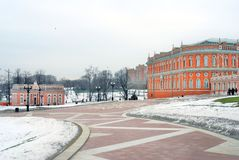 Tsaritsyno park in Moscow in winter. Royalty Free Stock Photo