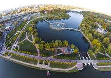 Tsaritsyno parkerar Arkivbild