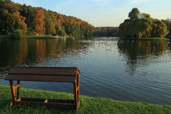 Tsaritsyno. The ponds in the park Tsaritsyno. Moscow Stock Photo