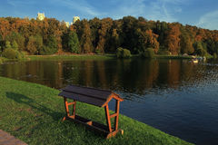 Tsaritsyno. The ponds in the park Tsaritsyno. Moscow Royalty Free Stock Images