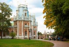 Tsaritsyno slott i Moskva Royaltyfri Fotografi