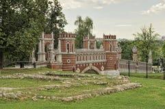 Tsaritsyno, Voorgestelde Brug, Moskou royalty-vrije stock afbeeldingen