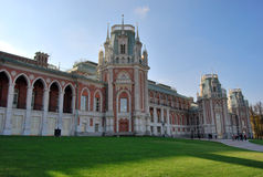 tsaritsynsky arkitekturmoscow park Arkivbilder