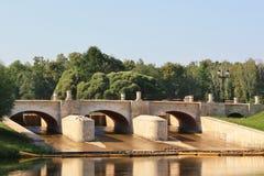 Tsaritsynso-represa (ponte figurada) Fotos de Stock Royalty Free