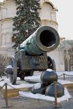 Tsarkanonkonung Cannon i MoskvaKreml i vinter Royaltyfri Foto