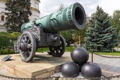 Tsarkanonkonung i MoskvaKreml, Ryssland Arkivbilder