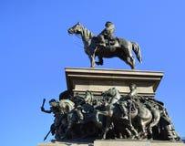 TsarOsvoboditel monument, Sofia, Bulgarien Arkivfoto