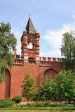 Tsarskaya Tower Framed by Trees - Moscow Kremlin, Russia royalty free stock images