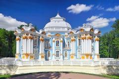 Tsarskoe的Selo亭子偏僻寺院。 免版税库存照片
