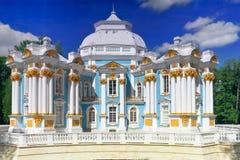 Tsarskoe的Selo亭子偏僻寺院 库存照片