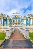 Tsarskoe的Selo偏僻寺院亭子 免版税库存照片