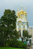 Tsarskoe Selo, de Paleiskerk stock afbeelding