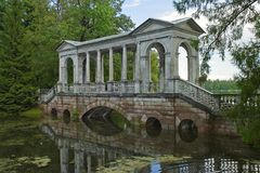 Tsarskoe Selo, Marmeren brug royalty-vrije stock afbeeldingen