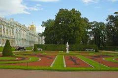 Tsarskoe Selo, Regelmatig Park stock afbeeldingen
