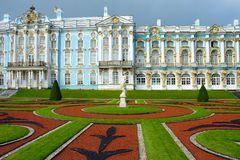 Tsarskoe Selo, Regular Park. In front of the Catherine Palace Royalty Free Stock Photos