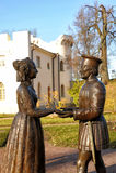 Tsarskoe Selo, sculptural group Stock Images