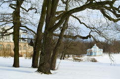 Tsarskoye Selo凯瑟琳公园  免版税库存照片