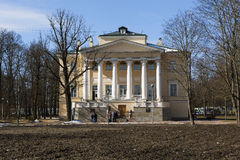 TSARSKOYE SELO, ΡΩΣΊΑ - 16 ΑΠΡΙΛΊΟΥ 2016: Φωτογραφία του παλατιού επιφύλαξης Στοκ Εικόνες