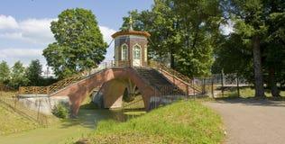 Tsarskoye selo, Chinese bridge Royalty Free Stock Image