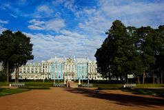 Tsarskoye Selo in de ochtend Stock Fotografie