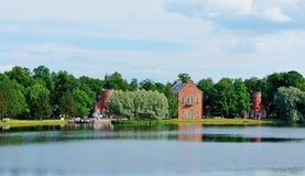 Tsarskoye Selo. Lake house in Tsarskoye Selo, St. Petersburg suburb Royalty Free Stock Image