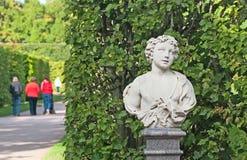 Tsarskoye Selo (Pushkin) Heilige-Petersburg Rusland Catherine Park Sculpture Stock Afbeelding