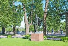 Tsarskoye Selo (Pushkin). Saint-Petersburg, Russia. The Apollo Belvedere Sculpture Stock Photo
