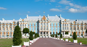 Tsarskoye Selo (Pushkin). Saint-Petersburg, Russia. The Catherine Palace Royalty Free Stock Photos