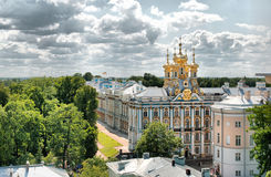 Tsarskoye Selo (Pushkin). Saint-Petersburg, Russia. The Catherine Palace Royalty Free Stock Photo