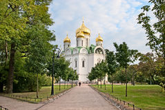 Tsarskoye Selo (Pushkin). Saint-Petersburg. Russia. Church of St. Catherine martyr Stock Photography