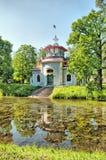 Tsarskoye Selo (Pushkin). Saint-Petersburg, Russia. The Creaking (Chinese) Summer-House Stock Photos
