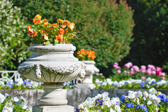 Tsarskoye Selo (Pushkin), Saint-Petersburg, Russia. Fragment of the Fountain-Vase in the Private Garden Stock Images