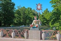 Tsarskoye Selo (Pushkin). Saint-Petersburg, Russia. The Large Chinese Bridge Royalty Free Stock Image