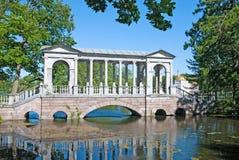 Tsarskoye Selo (Pushkin), Saint-Petersburg, Russia. The Marble Bridge Stock Images
