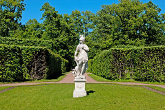 Tsarskoye Selo (Pushkin), Saint-Petersburg, Russia. The sculpture allegory Wisdom trampling on Vice Royalty Free Stock Images