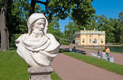 Tsarskoye Selo (Pushkin), Saint-Petersburg, Russia. The sculpture in the Catherine Park Royalty Free Stock Photo