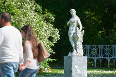 Tsarskoye Selo (Pushkin). Saint-Petersburg, Russia. The Zephyr Sculpture Royalty Free Stock Photography