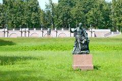Tsarskoye Selo (Pushkin), St Petersburg, Rússia A escultura de Nerva Imagens de Stock Royalty Free