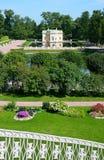 Tsarskoye Selo (Pushkin), St Petersburg, Rússia O Bathhouse superior Pavillion Fotos de Stock