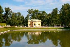 Tsarskoye Selo (Pushkin), St Petersburg, Rússia O Bathhouse superior Pavillion Fotografia de Stock Royalty Free