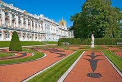 Tsarskoye Selo (Pushkin), St Petersburg, Rússia O parque regular Fotografia de Stock