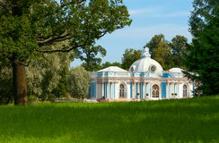 Tsarskoye Selo (Pushkin), St Petersburg, Rússia O pavilhão da gruta Foto de Stock Royalty Free