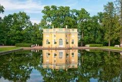 Tsarskoye Selo Pushkin St Petersburg Rússia O pavilhão superior do Bathhouse Foto de Stock Royalty Free