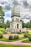 Tsarskoye Selo (Pushkin) St Petersburg, Russland Der weiße Turm in Alexander Park Lizenzfreies Stockbild