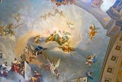 Tsarskoye Selo Ryssland Målning av den stora Hallen Fotografering för Bildbyråer
